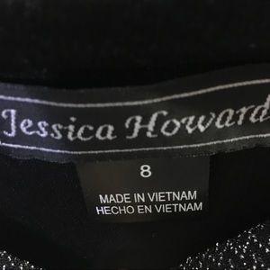 Jessica Howard Dresses - Jessica Howard Black & Silver Cocktail Dress Sz 8